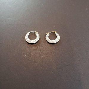 NWOT 10K Gold Cubic Zirconia 2 in 1 Earrings